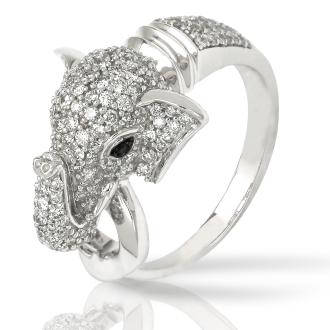 Nikash Diamonds Elephant Design Fashion Ring